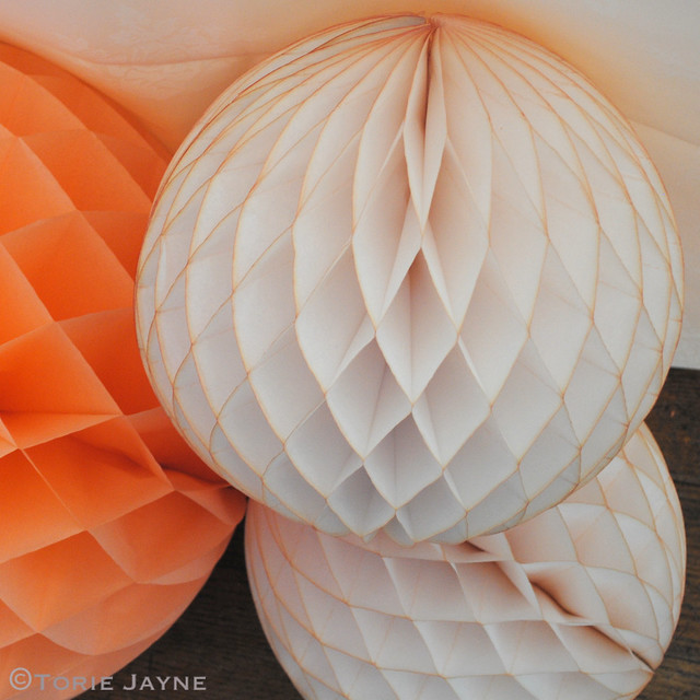 Tissue paper balls from Peach Blossom