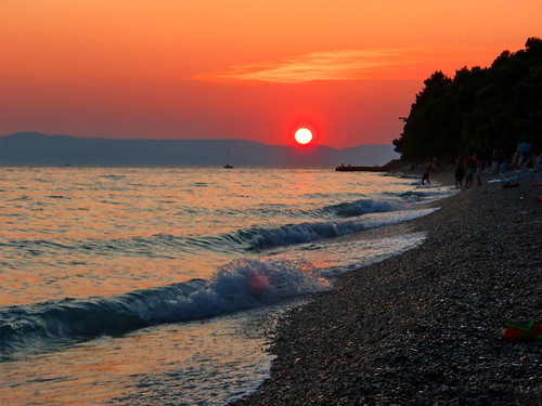 Croatia, sunset on the beach 005