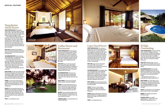 2nd page spread of the El Nido Feature