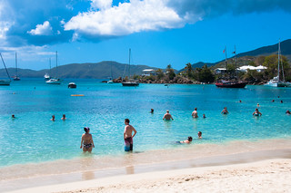Image de Honeymoon Beach. beach stthomas