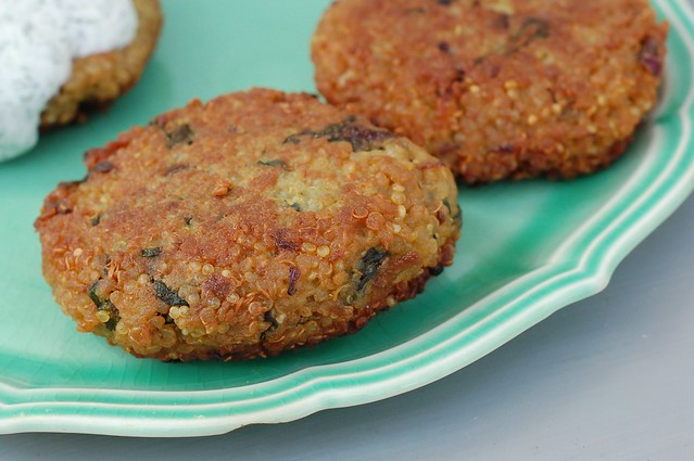 Curried Quinoa Cakes by Eve Fox, Garden of Eating blog, copyright 2013