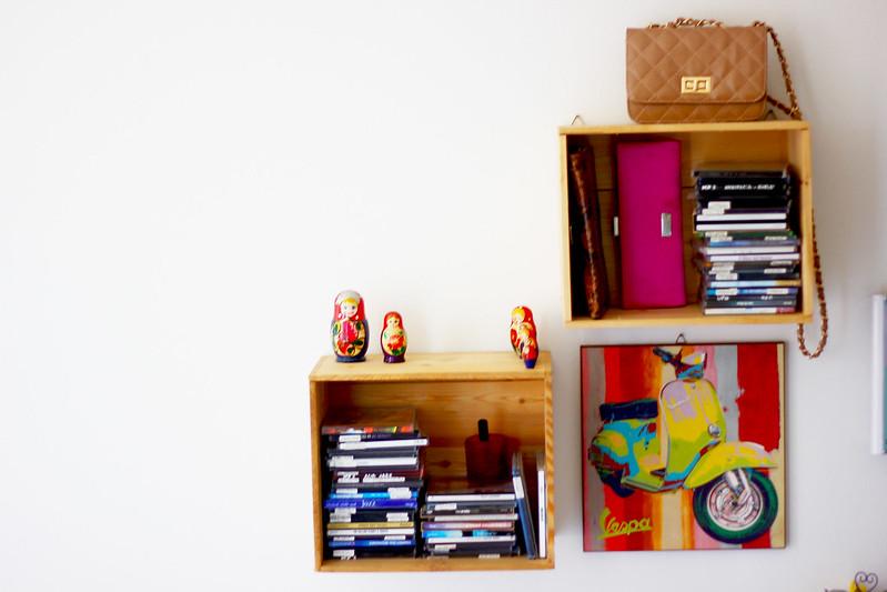 DIY a CD shelf - fai da te un porta CD