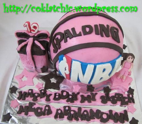 Cake Bola Basket
