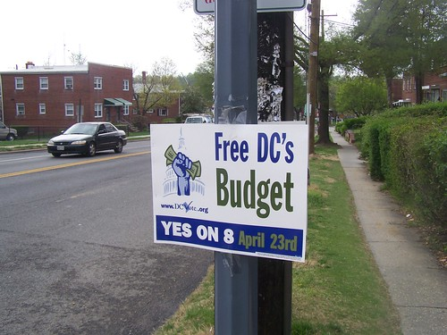 DC Initiative on budget election sign