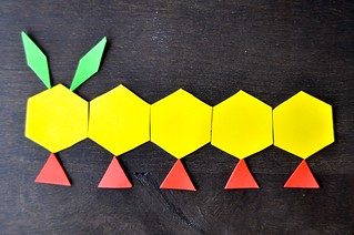 Caterpillar Foam Pattern Blocks