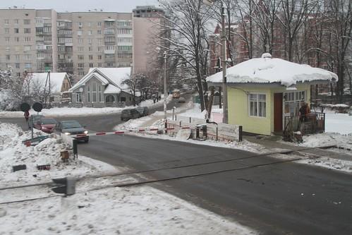 Railway level crossing in Ukraine