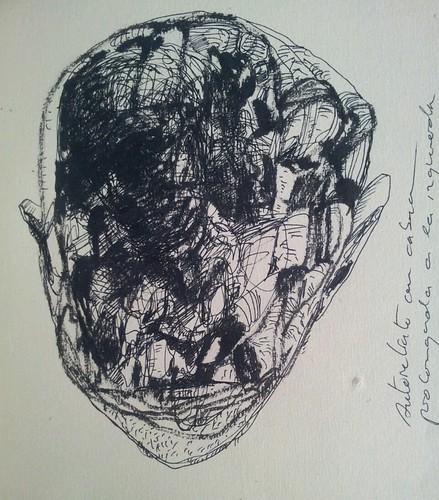 Autoretrato con cabeza prolongada a la izquierda by cardesin