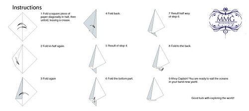 How to fold a paper yacht by Mr.&Mrs.Gray