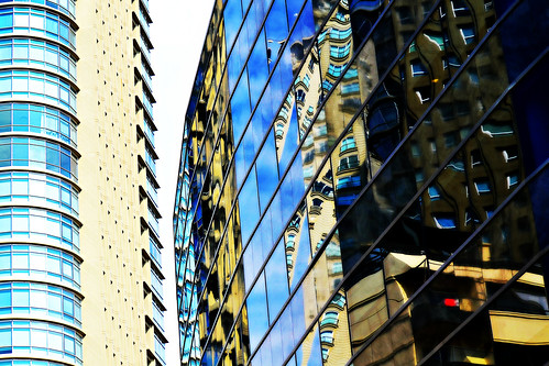 abstract architectural  reflections