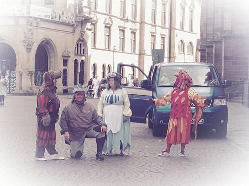 märchen bremerstadtmusikanten bremen germany deutschland fairytale esel katze hund hahn dog cat donkey rooster strasenkünstler