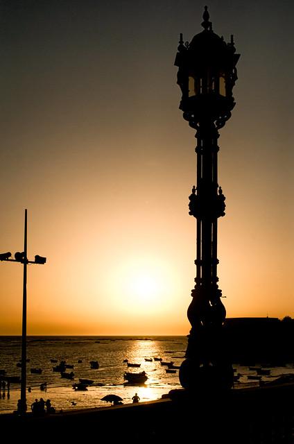 La caleta de Cádiz.