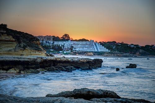 albufeira europe portugal hdr sunrise algarve atlantic
