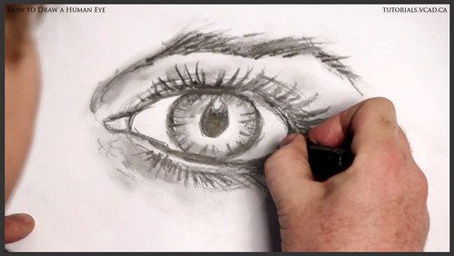 learn how to draw a human eye 029