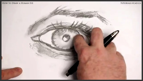 learn how to draw a human eye 020