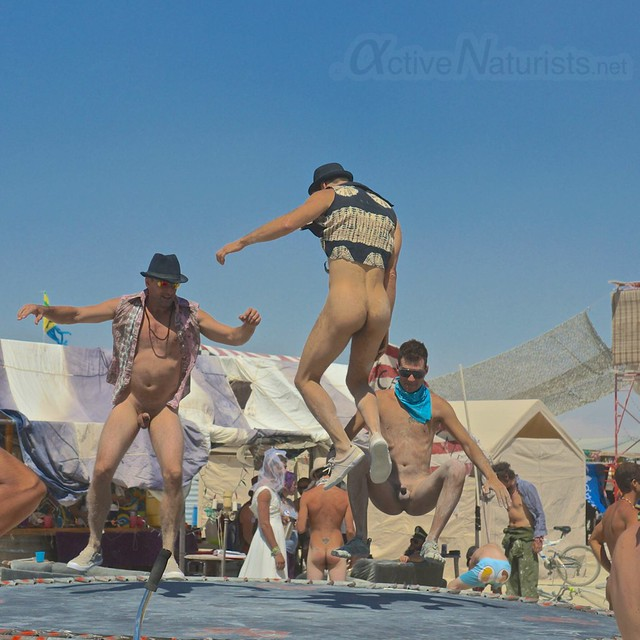 naturist trampoline 0037 Burning Man 2012, Black Rock City, NV, USA