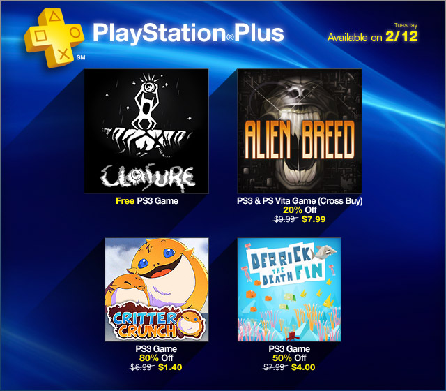 PlayStation Plus Update 2-12-13