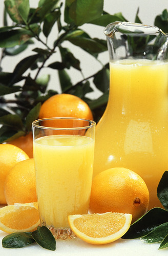 The AMS Specialty Crops Inspection Division was able to help orange juice exporters certify the juice's domestic origin. The Division helped the exporters avoid a 54% tariff. USDA Photo Courtesy of Scott Bauer.
