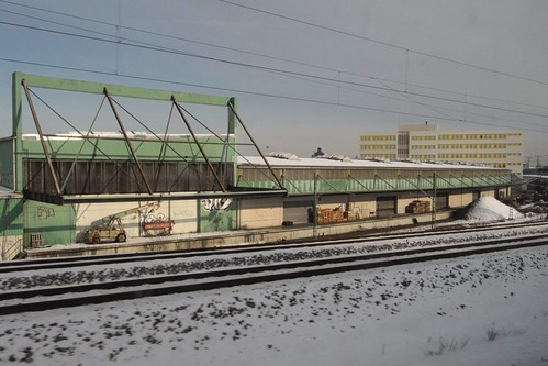 Disused rail access to a warehouse in Nuremberg