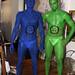 Opposites Attract Human Statue Bodyart, Bodypaint
