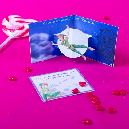 Peter Pan Pop Up Valentine's Card