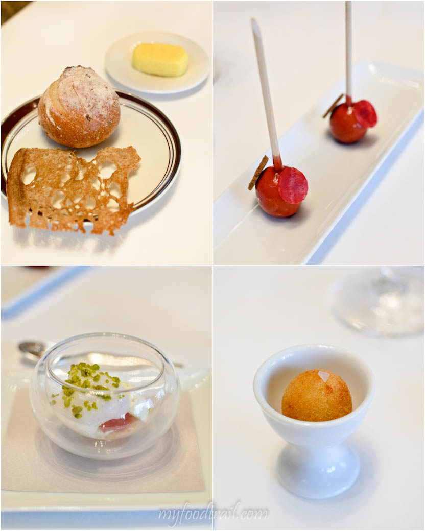 Amber Restaurant, Hong Kong - Complimentary amuse bouche