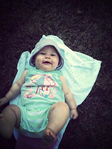 Happy picnic girl