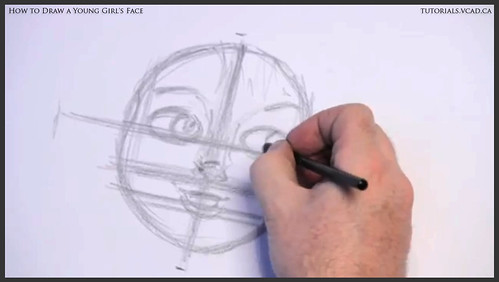 learn how to draw a young girls face 006