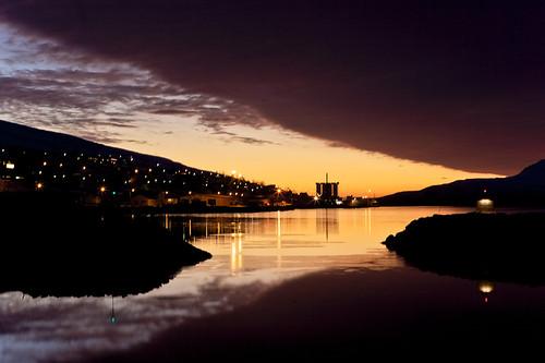 morning sky reflection clouds sunrise iceland village ísland ský himinn speglun morgunn sólarupprás 25faves fáskrúðsfjörður faskrudsfjordur þorp jónínaguðrúnóskarsdóttir