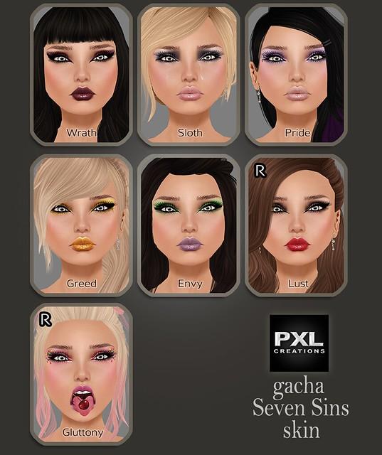 [PXL] Gacha - Seven Sins Skins