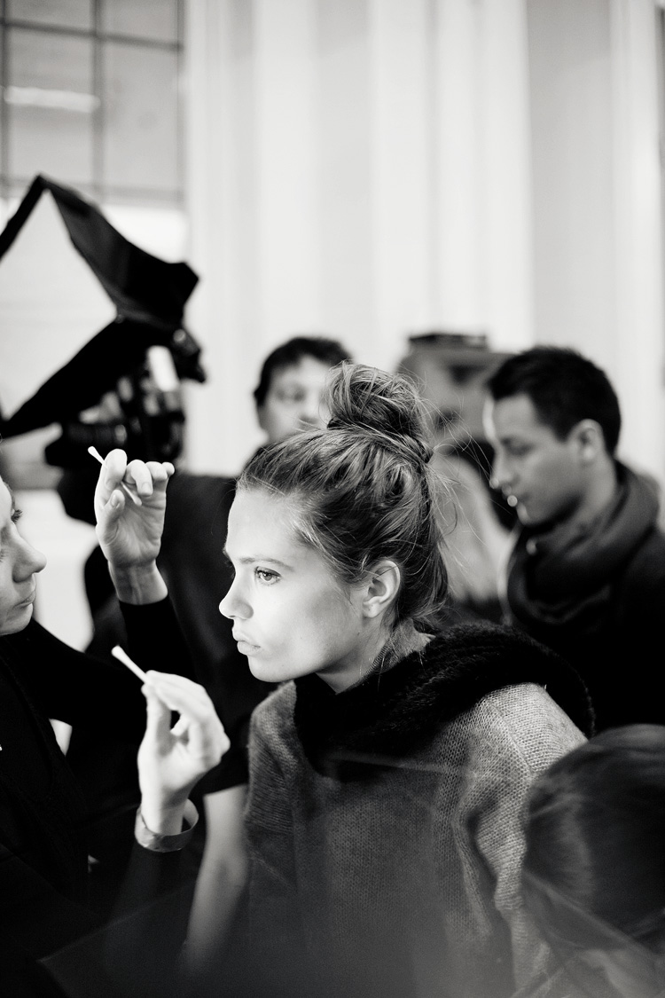 nyfw 2013 // backstage at derek lam