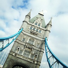 Tower Bridge, which is NOT London Bridge, but IS the most iconic bridge of London.