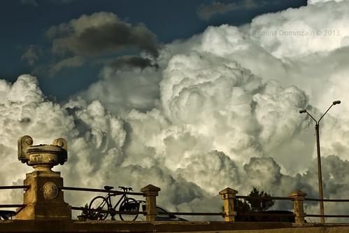 sky bike clouds afternoon bicicleta cielo tarde rambla piriápolis nubesesponjosas