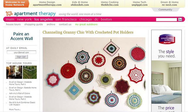 Granny chic crochet by Emma Lamb as featured on Apartment Therapy | Emma Lamb