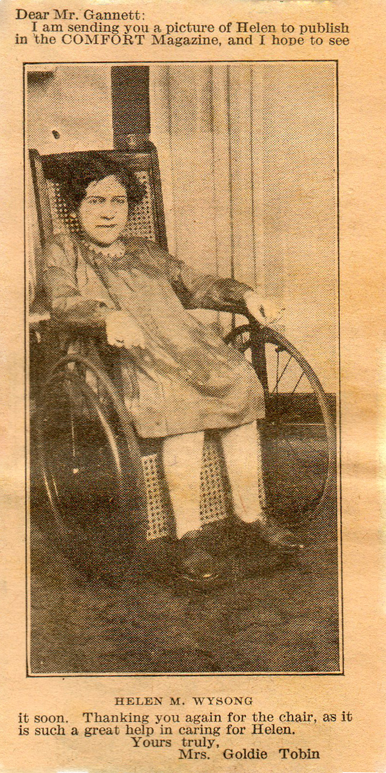 Helen M Wysong Comfort Magazine 1931