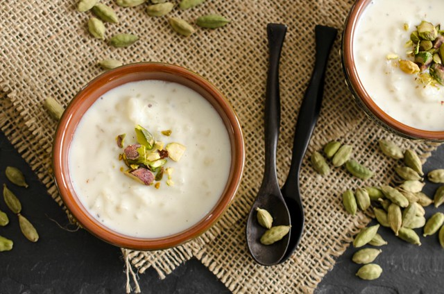 Cardamom and Rosewater Kheer