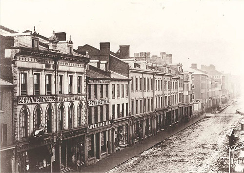 King Street East, south side, looking west, 1856.
