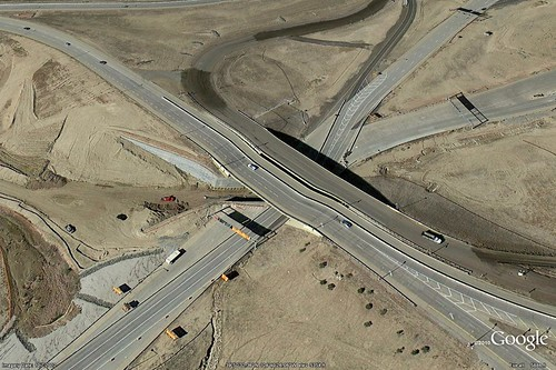 Google Maps Aerial Photo of Triple Stack Underpass Construction, October 7, 2012