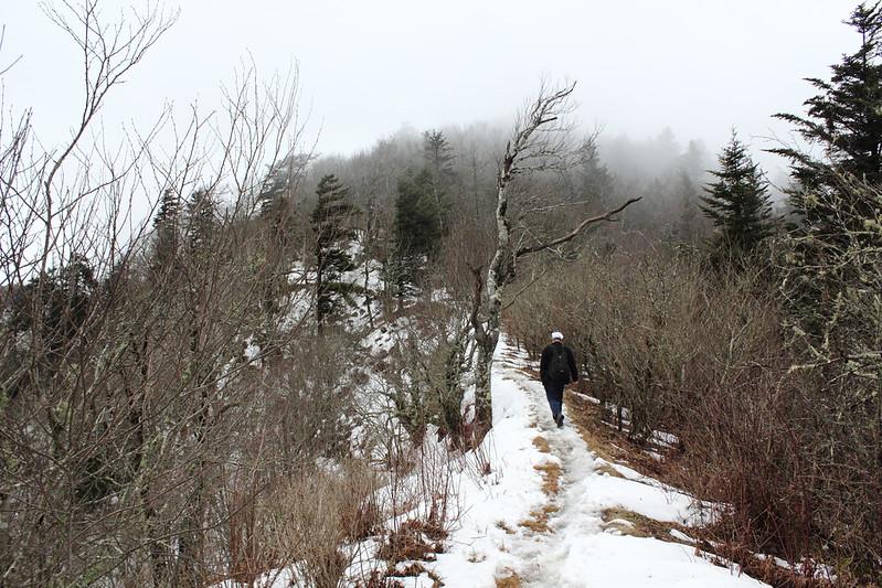 Along a ridge