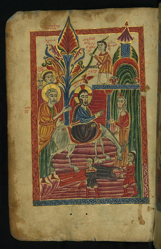 Gospel Book, Christ's Entry into Jerusalem, Walters Manuscript W.540, fol. 10v by Walters Art Museum Illuminated Manuscripts