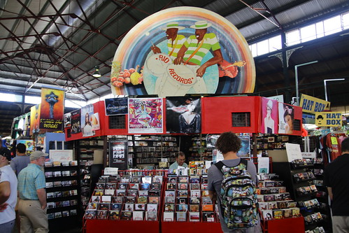 Record store at Fremantle Market