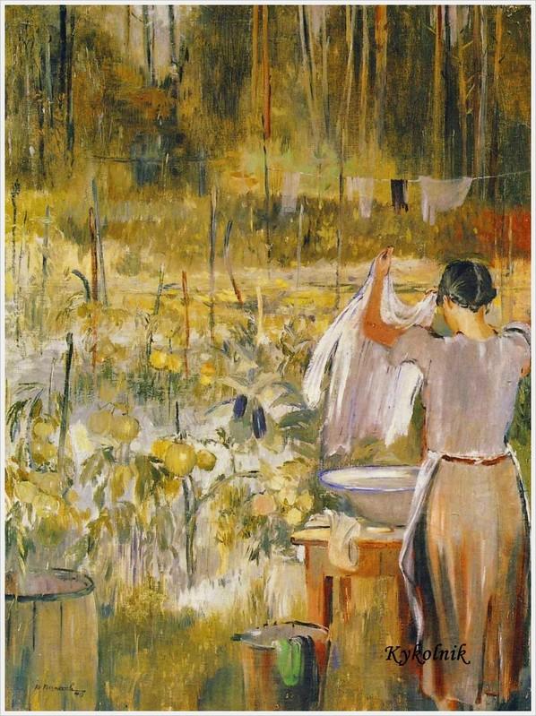 Пименов Юрий Иванович (Россия, 1903-1977) «В огороде»