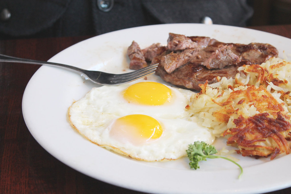 central park steak and eggs