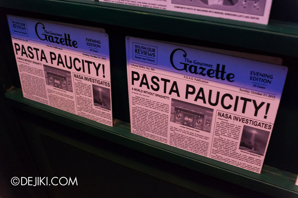 Spaghetti Space Chase - Themed Newsstand in queue