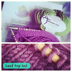 Working on this after I gave up on this in 2011. This Italian yarn is amazing. :)