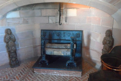 Fireplace in Entrance Hall of Lindisfarne Castle