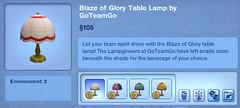 Blaze of Glory Table Lamp by GoTeamGo