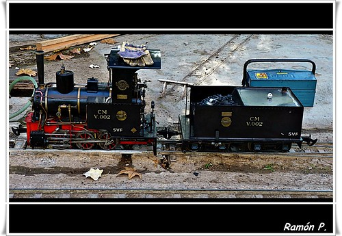 Locomotora de vapor en miniatura---(Miniature steam locomotive)