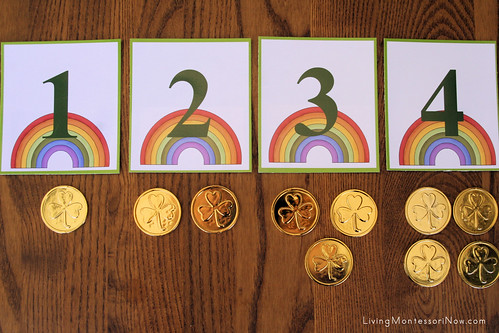 St. Patrick's Day Numbers and Counters Layout