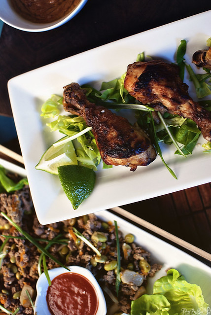 Slow Cooker Thai Wings and Asian Lettuce Cups