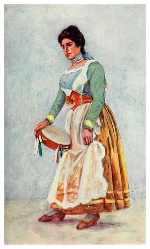 002-Bailando la Tarantella en Sorrento-Naples -1904- Augustine Fitzgeral